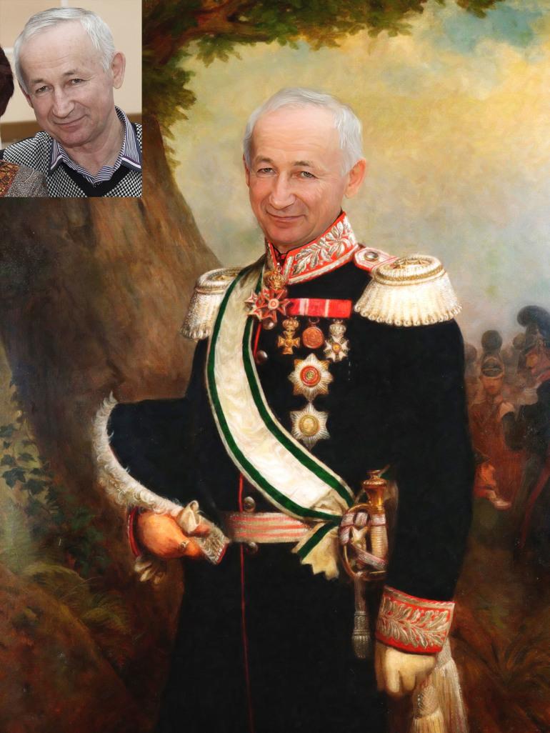 Где заказать исторический портрет по фото на холсте в Перми?