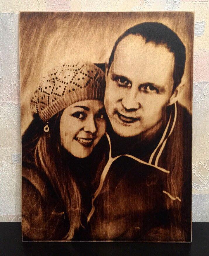 выжигание портретов по дереву на заказ в Перми