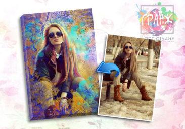 Портрет по фото на заказ в честь 8 марта в Перми