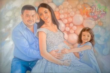 Заказать семейный портрет по фото маслом на холсте…