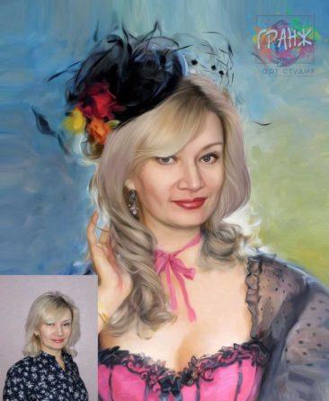 Заказать арт портрет по фото на холсте в Перми