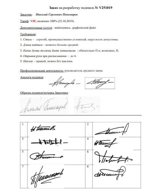 Разработка личной подписи онлайн Пермь