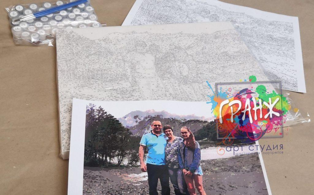 картин по номерам на холсте по фото в Перми