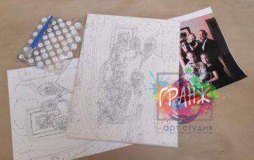 Картина по номерам по фото, портреты на холсте и дереве в Перми